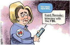 Presumptuous Politics: Clinton Probe Cartoons
