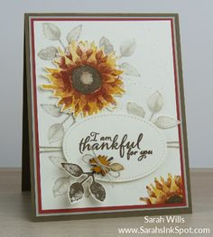 Stampin' Up! Painted Harvest with Touches of Nature… – Sarahs Ink Spot