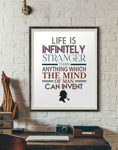 Sherlock holmes quotes, quote poster, quotes prints, digital prints, typography print, modern wall decor, quote wall art, life quotes prints https://www.etsy.com/listing/493275086/sherlock-holmes-quotes-quote-poster?utm_campaign=crowdfire&utm_content=crowdfire&utm_medium=social&utm_source=pinterest