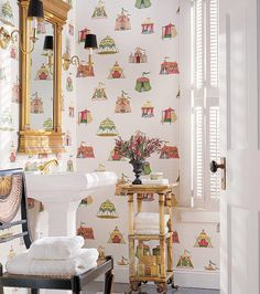 Climbing the walls with wallpaper..... - The Enchanted Home