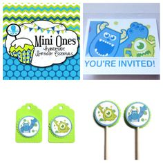 Party PackMonsters Inc Inspired by MiniOnes on Etsy, $29.50