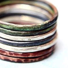 Mixed Metal Rings por indiaylaluna en Etsy