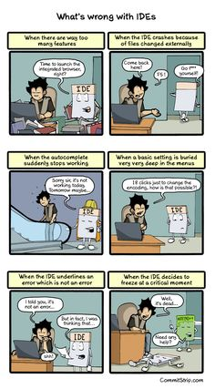 What's wrong with IDEs | CommitStrip - Blog relating the daily life of web agencies developers