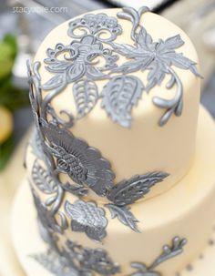 Creamy cream and silver cake