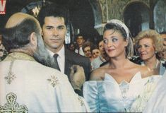 Photos of the weddings of our Greek actors Greek cinema. Famous Celebrities, Celebrity Weddings, Famous People, Summer Outfits, Greek, Cinema, Actors, Bride, Couple Photos