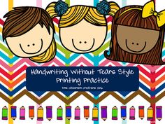Handwriting Without Tears style printing practice for primary learners!