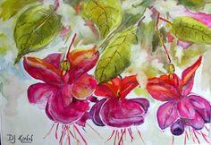 #Fuchsias Lovely watercolour