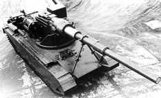 FV4005 Stage 1 - British prototype of powerful 183 mm gun tank destroyer. Stage 1 was first attempt to mount such a big caliber on Centurion or FV215 chassis.
