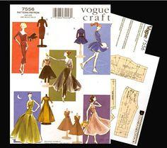 E PATTERN - Barbie Vintage Wardrobe Sewing Pattern 11.5 inch Fashion Dolls