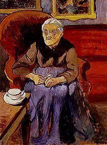 Bild:  Suzanne Valadon - Bildnis einer alten Frau.
