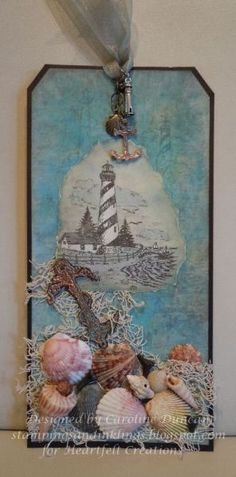 Get inspired in the Heartfelt Creations Project Gallery. Free scrapbook layouts, altered art projects and more with instructions. Atc Cards, Journal Cards, Card Tags, Gift Tags, Paper Art, Paper Crafts, Heartfelt Creations Cards, Nautical Cards, Handmade Tags
