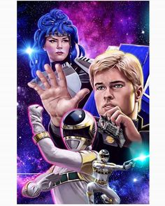 #Repost @mikeperryart ・Lets rocket! Image # 2 from the Mega Print. This time we have zhane and astronema played by @justinnimmo and @melodyperkinsxo respectively. Prints will be available first as con exclusives for the @kccexpo coming up in few weeks. #zhane #powerrangers #supersentai #megaprint #megaranger #powerrangersinspace #inspace #silverranger #justinnimmo #silverlegion #illustration #print #digital #digitalillustration #mikeperry #mikeperryart