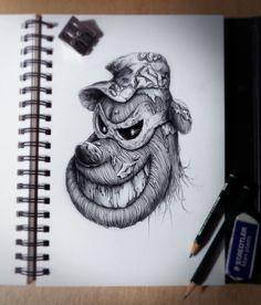 Pete [as a monster] (Drawing by Pez-Artwork) Cartoon Character Tattoos, Drawing Artwork, Artist Inspiration, Sketch Book, Pez Artwork, Really Cool Drawings, Amazing Drawings, Monster Drawing, Cool Drawings