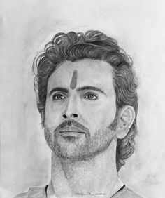 Marvel Drawings, Art Drawings Sketches, Pencil Drawings, Celebrity Drawings, Hrithik Roshan, Art Day, Insta Art, Photo And Video, Black And White