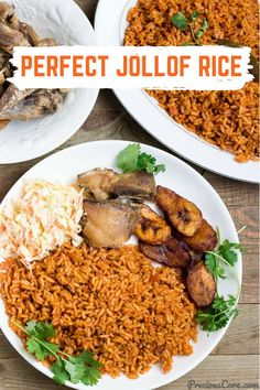 The perfect Jollof Rice! This one pot rice and chicken meal is one dinner recipe you will want to make over and over again! Simple ingredients, great results. Get the recipe on Precious Core. Chicken And Rice Dishes, Rice Side Dishes, Vegetable Side Dishes, Chicken Recipes, Ghana Food, West African Food, Vegetarian Recipes, Cooking Recipes, Jamaican Recipes