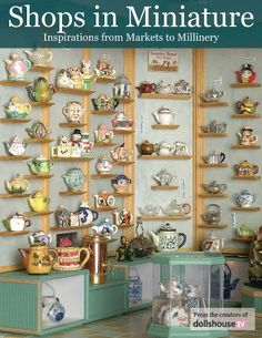 This tea shop was made by Jean Caff. It is really interesting because of my new-found appreciate of teapots!
