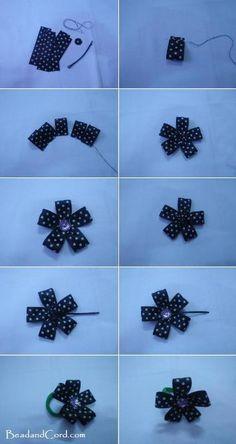 DIY Tutorial: DIY Crafts / DIY Hair bow ideas for hair clip - Bead&Cord