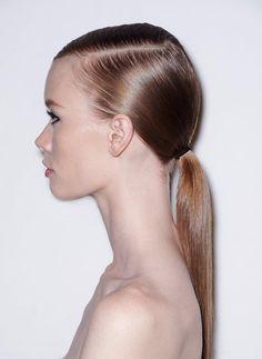 How to: Diesel's <b>side</b>-slicked <b>low</b> <b>ponytail</b> - Fashionising.com