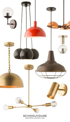 Schoolhouse Fall '15 lighting | All new pendants, wall sconces, factory…