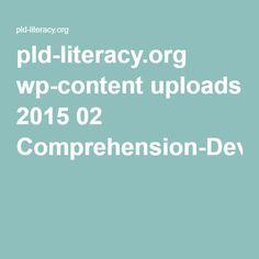 comprehension development