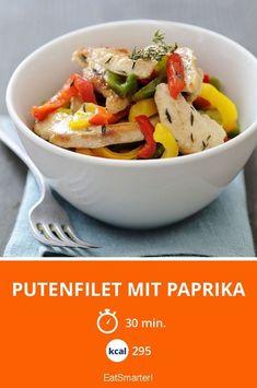 Putenfilet mit Paprika - smarter - Kalorien: 295 kcal - Zeit: 30 Min. | eatsmarter.de