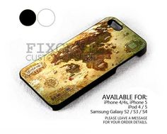 Final Fantasy XIV World Map case for iPhone 4/4S/5 iPod 4/5 Galaxy S2/S3/S4