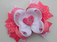 Valentine Boutique Hair Bow - Girls Hair Bow -