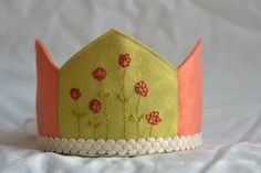 springy Wool Felt Birthday Crown - $38 - by loveandlaughter on Etsy.