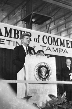 JFK addresses the Tampa Chamber of Commerce - Nov. 18, 1963.