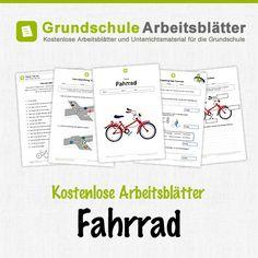 Kostenlose Arbeitsblätter und Unterrichtsmaterial für den Sachunterricht zum Thema Fahrrad in der Grundschule.