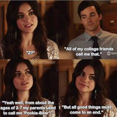 """Ezra Fitz and Aria Montgomery quote """"But all good things must come to an end."""" PLL #Ezria"""