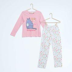Pyjama imprimé 'Comme des Bêtes' Fille - Kiabi - 13,00€