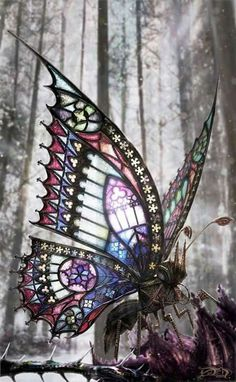 Gothic Butterfly by David Aguirre Hoffman