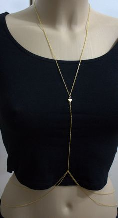 Hey, I found this really awesome Etsy listing at https://www.etsy.com/listing/152563498/rihanna-body-chain-gold-heart-double