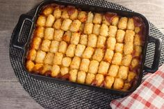 This wonderfully easy recipe will make your mouth water. Weeknight Sloppy Joe Tater Tot Casserole is a delectable combination of ground beef, tater tots, peppers, and cheese. This recipe is easily made gluten free.