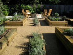 Wonderful! Incorporate raised beds for herbs (imagine how wonderful it smells with all that rosemary) and seasonal vegies. I need to work this in.  ??enough sun.   New Traditional - contemporary - landscape - los angeles - Design By Nature Landscape Studio