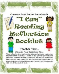 Grade 3, 4, 5, Reading Literature I Can Student Booklet and Common Core rubrics! Great for guided reading or independent book study for students! $