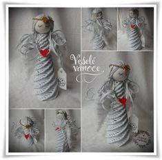 vánoce-anděl s vlásky Newspaper Basket, Newspaper Crafts, Weaving Designs, Weaving Art, Basket Weaving, Craft Gifts, Quilling, Christmas Crafts, Presents