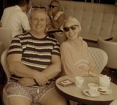 Caffe Roma, Cannes, coffee with friend