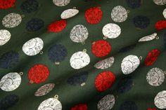 NB 14/15 5989-28 Kerst katoen kerstbal groen