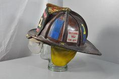 Vintage Cairns Leather Fireman Helmet Shermansdale 121   eBay
