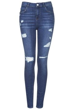 MOTO Authentic Ripped Skinny Jeans - Topshop