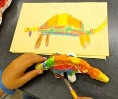 Read Uneversaurus and have the kids draw out their dinosaurs first on a piece of paper, then take clay and create them. Bake the clay and then they are able to paint their creations!