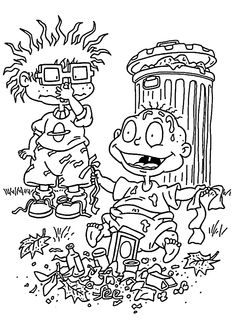 Dylan And Trash Coloring Pages For Kids Printable Free