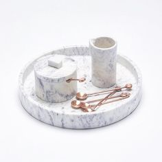 In love with this marble set-marble, decor, set