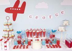 Airplane theme signage