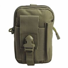 """Iphone 6s plus Tactical Pouch, Multi-Purpose Compact Molle EDC Utility Tool Waist Bag Pack with Cell Phone Holster for iphone 6/6s 7,Android Dual Zipper Pockets Walking Hiking Running (Olive Green). Material:Durable/Wearproof/Tear-resistant 600D Nylon Waterproof Fabrics. Size:6.89""""x4.72""""x2.36""""(H*W*D)(Only the Pouch is Included),Portable and Lightweigh. 2 Zipper Pockets,Exterior Phone Pocket(Fits iPhone 6s plus),Exterior Pen Sheath. Suitable for iPhone 6 6s iPhone 6 6s plus,Fits Samsung..."""