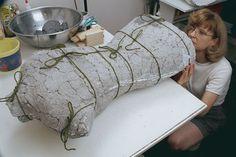 Molded Papier-Mâché Form - Threads