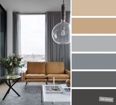 The best living room color schemes - Neutral and grey color palette - Fabmood | Wedding Colors, Wedding Themes, Wedding color palettes House Color Schemes, Living Room Color Schemes, House Colors, Living Room Designs, Grey Living Room Ideas Colour Palettes, Modern Color Schemes, Room Interior Colour, Home Interior, Interior Design Color Schemes