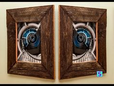 Simple Barn Wood Picture Frame - YouTube